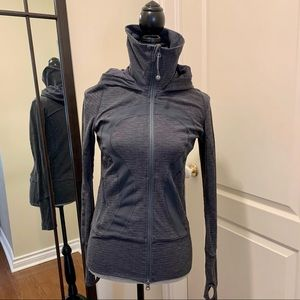 Lululemon dark heathered grey zip up loungewear